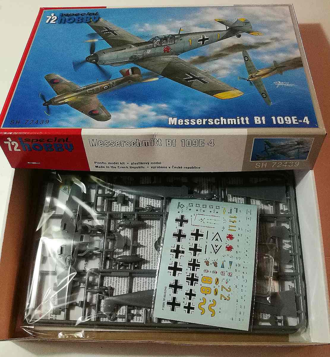 Special-Hobby-SH-72439-Messerschmitt-Bf-109-E-4-1 Messerschmitt Bf 109 E-4 in 1:72 von Special Hobby # SH 72439