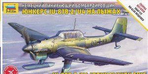 Junkers Ju 87 with skis in 1:72 von Zvezda # 7323