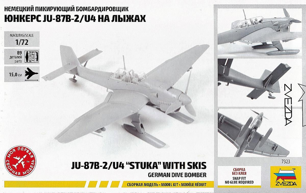 Zvezda-7323-Junkers-Ju-87-with-Skis-2 Junkers Ju 87 with skis in 1:72 von Zvezda # 7323
