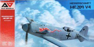 Messerschmitt Me 209 V4 in 1:48 von A&A Models # 4810
