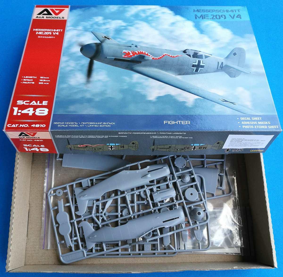 AA-Models-4810-Messerschmitt-Me-209-V4-60 Messerschmitt Me 209 V4 in 1:48 von A&A Models # 4810