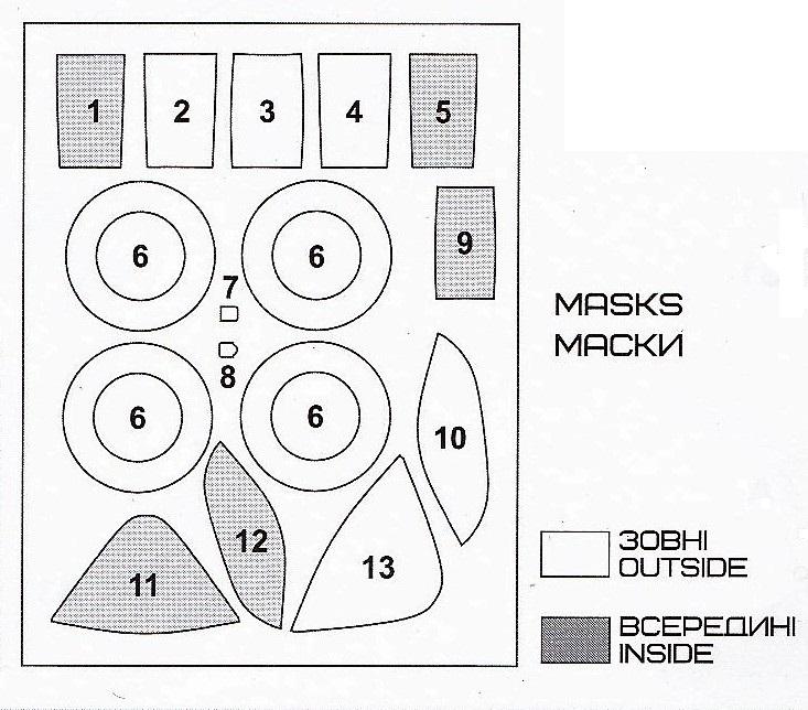 AA-Models-4810-Messerschmitt-Me-209-V4-Masken Messerschmitt Me 209 V4 in 1:48 von A&A Models # 4810