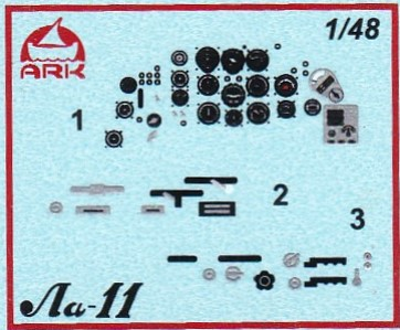 ARK-Models-AK-48050-Lavochkin-La-11-Decal-Instrumentenbrett Lavochkin La-11 in 1:48 von ARK Models #AK 48050