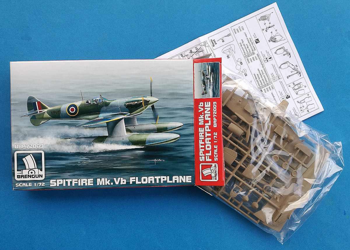 Brengun-BRP-72009-Spitfire-Mk.-Vb-Floatplane-2 Spitfire Mk. Vb Floatplane in 1:72 von Brengun # BRP 72009