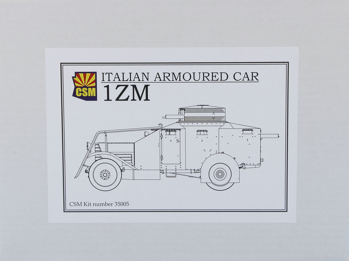 CopperStateModels-CSM-35005-Autoblinda-1ZM-2 Autoblinda Lancia 1ZM in 1:35 von CopperStateModels #CSM 35005