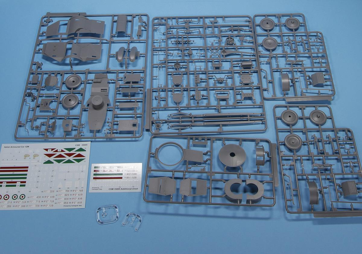 CopperStateModels-CSM-35005-Autoblinda-1ZM-20 Autoblinda Lancia 1ZM in 1:35 von CopperStateModels #CSM 35005