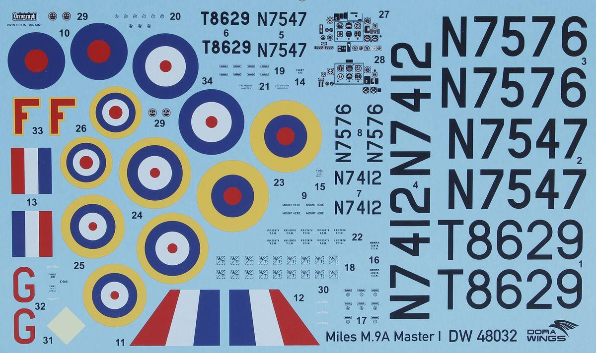 Dora-Wings-DW-48033-Miles-M.9-Master-Mk.-I-Bauanleitung-13 Miles M.9 Master Mk. I in 1:48 von Dora Wings #DW 48033