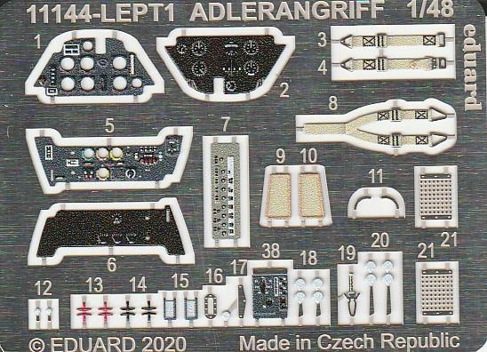 """Eduard-11144-Adlerangriff-14 Eduard Limited Edition """"Adlerangriff"""" (die Bf-109 in der Luftschlacht um England) in 1:48 #11144"""