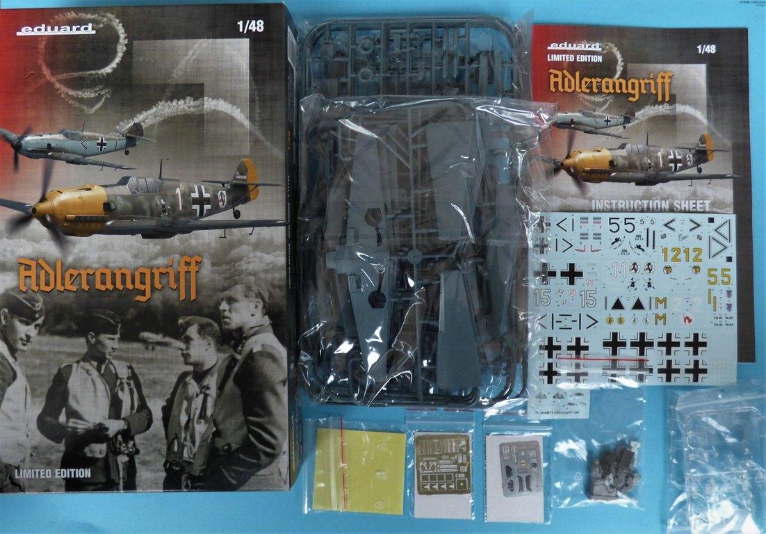 """Eduard-11144-Adlerangriff-2 Eduard Limited Edition """"Adlerangriff"""" (die Bf-109 in der Luftschlacht um England) in 1:48 #11144"""