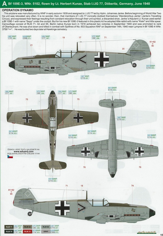 """Eduard-11144-Adlerangriff-32 Eduard Limited Edition """"Adlerangriff"""" (die Bf-109 in der Luftschlacht um England) in 1:48 #11144"""
