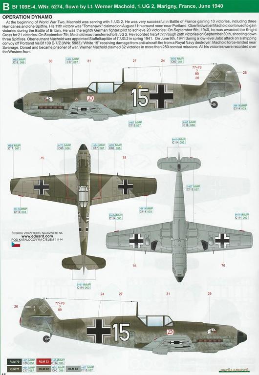 """Eduard-11144-Adlerangriff-33 Eduard Limited Edition """"Adlerangriff"""" (die Bf-109 in der Luftschlacht um England) in 1:48 #11144"""