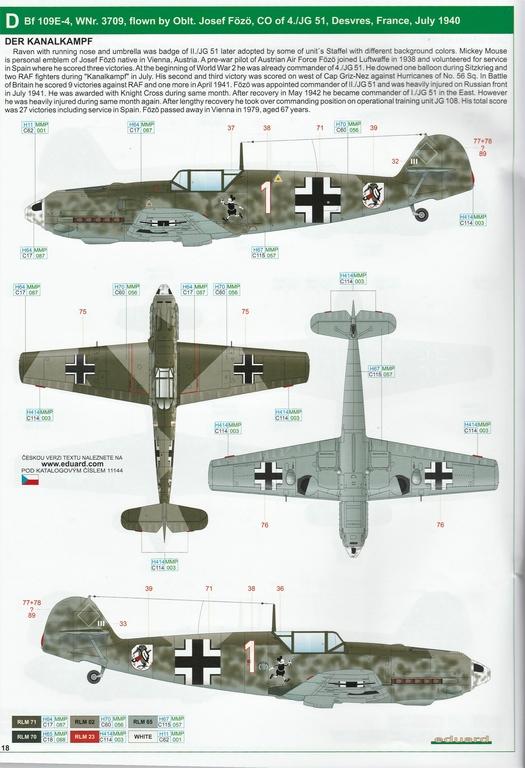 """Eduard-11144-Adlerangriff-35 Eduard Limited Edition """"Adlerangriff"""" (die Bf-109 in der Luftschlacht um England) in 1:48 #11144"""