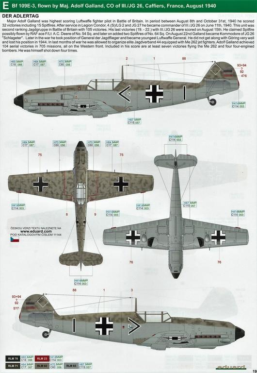 """Eduard-11144-Adlerangriff-36 Eduard Limited Edition """"Adlerangriff"""" (die Bf-109 in der Luftschlacht um England) in 1:48 #11144"""