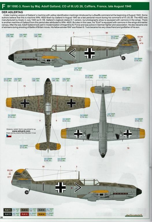 """Eduard-11144-Adlerangriff-37 Eduard Limited Edition """"Adlerangriff"""" (die Bf-109 in der Luftschlacht um England) in 1:48 #11144"""