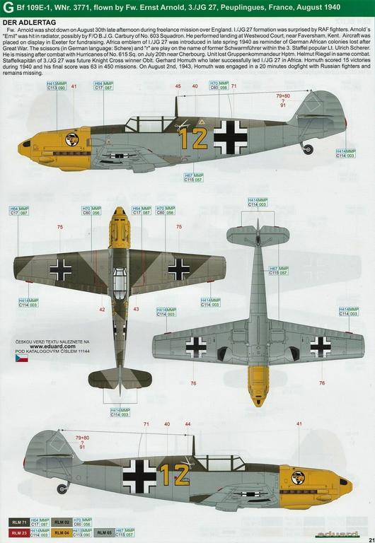 """Eduard-11144-Adlerangriff-38 Eduard Limited Edition """"Adlerangriff"""" (die Bf-109 in der Luftschlacht um England) in 1:48 #11144"""