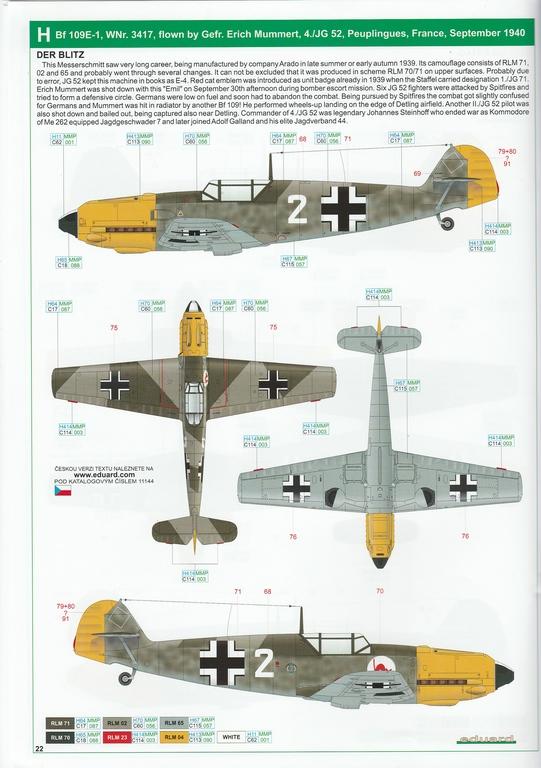 """Eduard-11144-Adlerangriff-39 Eduard Limited Edition """"Adlerangriff"""" (die Bf-109 in der Luftschlacht um England) in 1:48 #11144"""