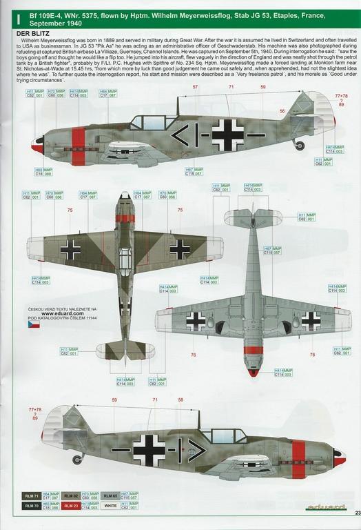 """Eduard-11144-Adlerangriff-40 Eduard Limited Edition """"Adlerangriff"""" (die Bf-109 in der Luftschlacht um England) in 1:48 #11144"""