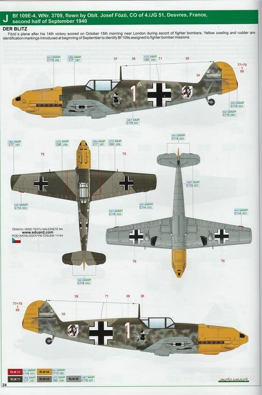 """Eduard-11144-Adlerangriff-41 Eduard Limited Edition """"Adlerangriff"""" (die Bf-109 in der Luftschlacht um England) in 1:48 #11144"""