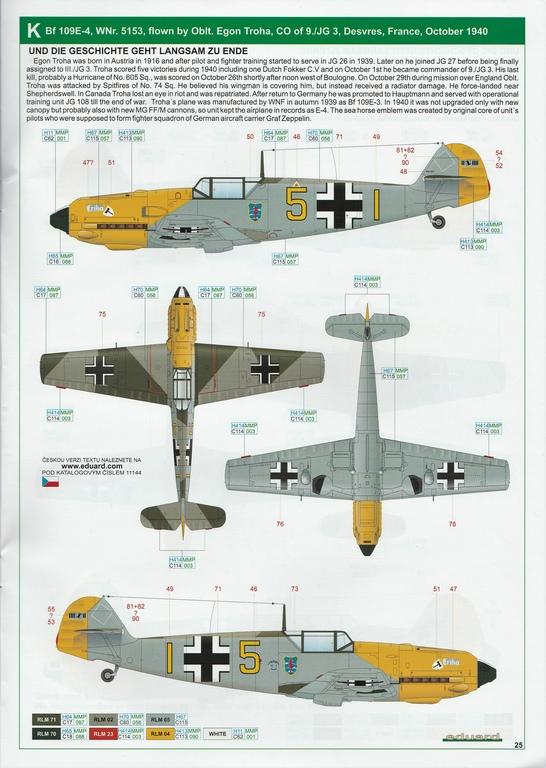 """Eduard-11144-Adlerangriff-42 Eduard Limited Edition """"Adlerangriff"""" (die Bf-109 in der Luftschlacht um England) in 1:48 #11144"""