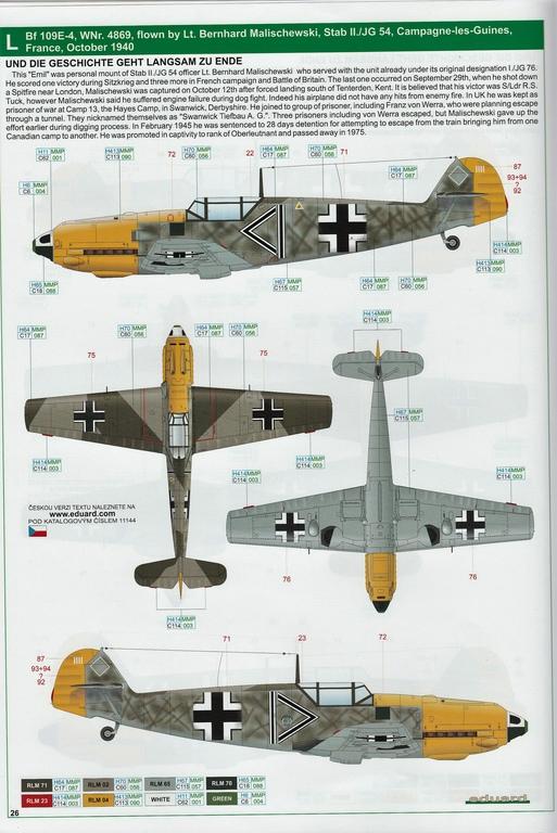 """Eduard-11144-Adlerangriff-43 Eduard Limited Edition """"Adlerangriff"""" (die Bf-109 in der Luftschlacht um England) in 1:48 #11144"""