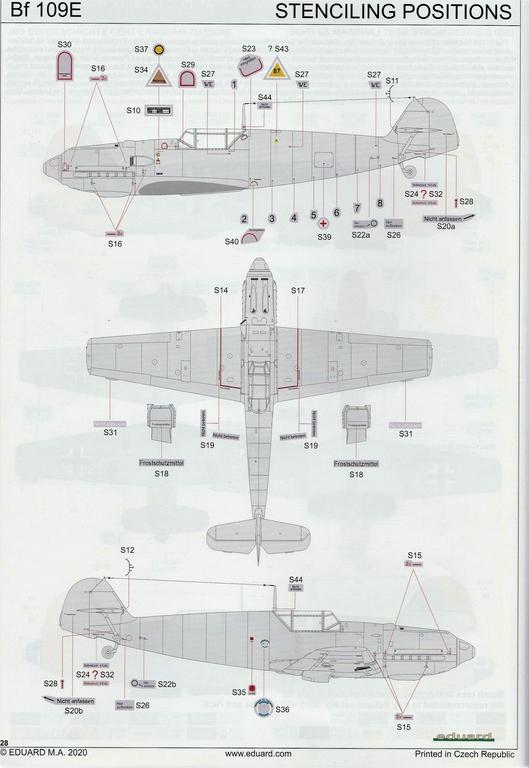"""Eduard-11144-Adlerangriff-45 Eduard Limited Edition """"Adlerangriff"""" (die Bf-109 in der Luftschlacht um England) in 1:48 #11144"""