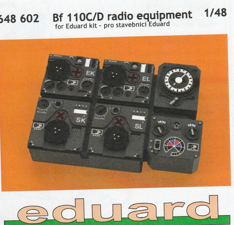 Eduard-644076-etc.-Bf-110-C-und-D-LOeOeK-11 Löök- und Brassin-Innenausstattung für die Bf-110 von Eduard in 1:48 #644076 #644077 #648602