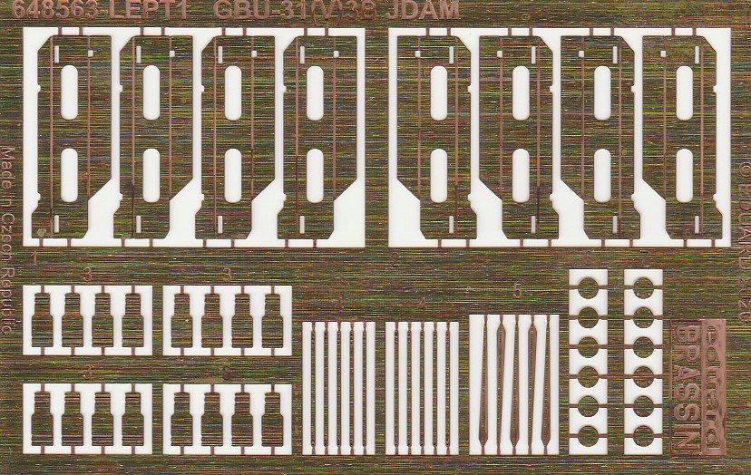 Eduard-648563-GBU-31-JDAM-12 GBU-31(V)3B JDAM-Bombe von Eduard in 1:48 #648563