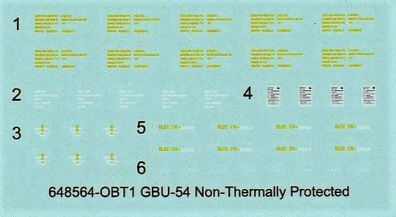 """Eduard-648564-GBU-54-10 GBU-54 """"Non-Thermally Protected"""": Bomben von Eduard Brassin in 1:48 #648564"""