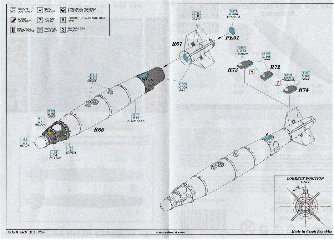 """Eduard-648564-GBU-54-12 GBU-54 """"Non-Thermally Protected"""": Bomben von Eduard Brassin in 1:48 #648564"""