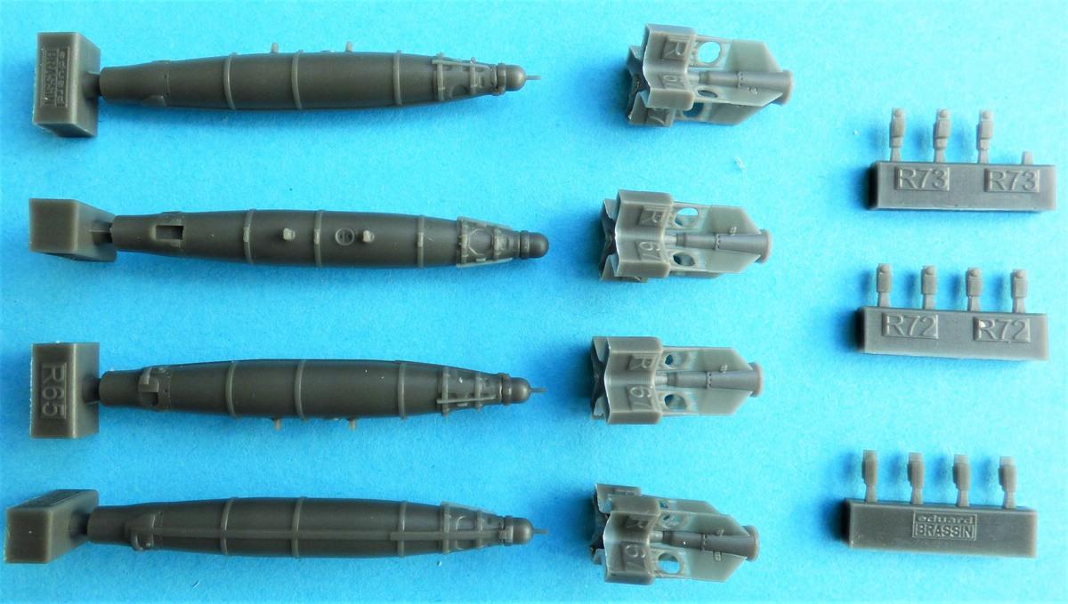 """Eduard-648564-GBU-54-3 GBU-54 """"Non-Thermally Protected"""": Bomben von Eduard Brassin in 1:48 #648564"""