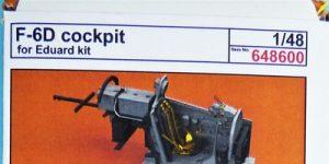 Cockpit Detaillierungsset für die F-6D Mustang Aufklärer von Eduard in 1:48 #648600