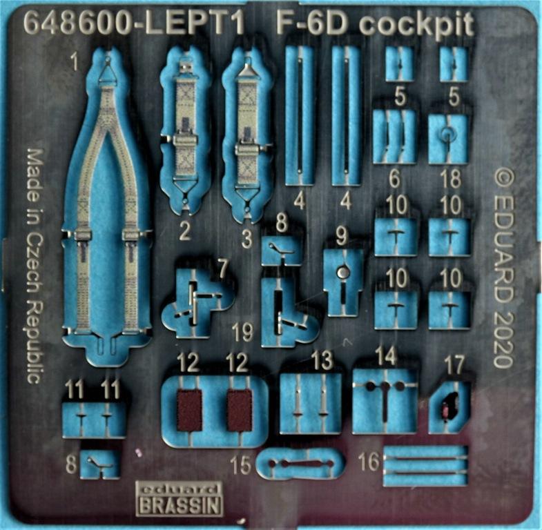 Eduard-648600-F-6D-Cockpit-18 Cockpit Detaillierungsset für die F-6D Mustang Aufklärer von Eduard in 1:48 #648600