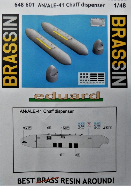 Eduard-648601-AN-ALE-41-Chaff-Dispenser-12 AN/ALE-41 Caff-Dispenser von Eduard Brassin in 1:48 #648601