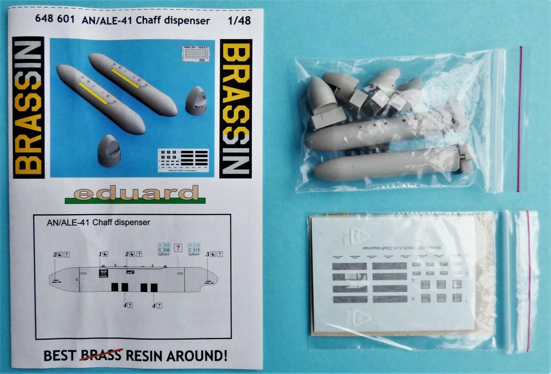 Eduard-648601-AN-ALE-41-Chaff-Dispenser-2 AN/ALE-41 Caff-Dispenser von Eduard Brassin in 1:48 #648601