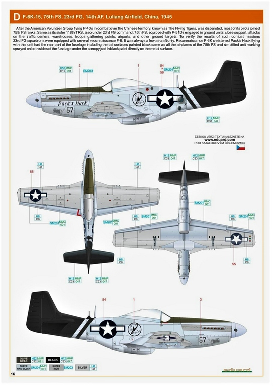 Eduard-82103-F-6-D-29 F-6 D/K Profi-Pack von Eduard in 1:48 #82103