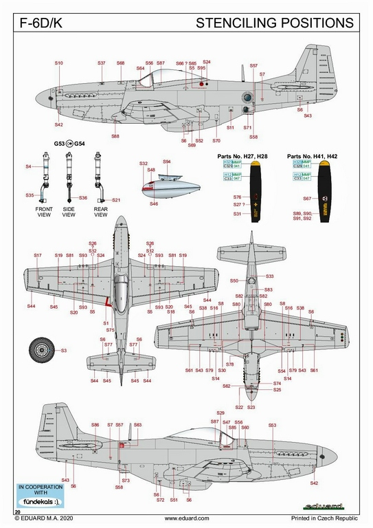 Eduard-82103-F-6-D-33 F-6 D/K Profi-Pack von Eduard in 1:48 #82103