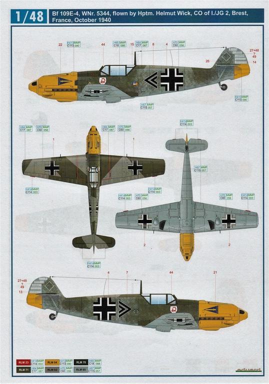 "Eduard-D48062-und-D48063-Decals-Adlerangriff-6 Decalsätze ""Adlerangriff"" von Eduard in 1:48 # D48062 und #D48063"