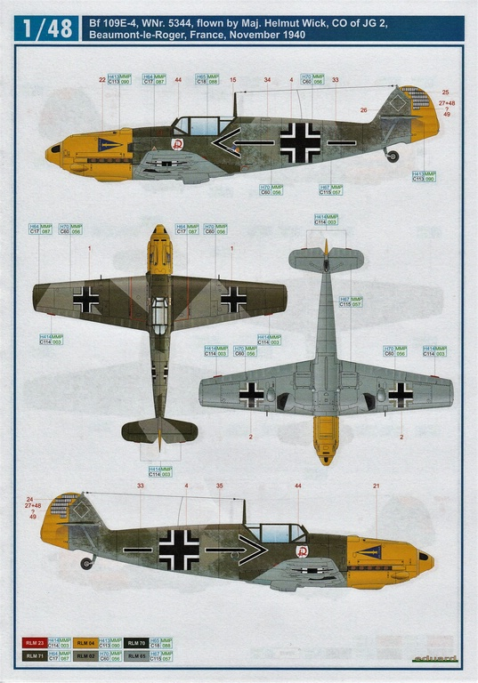 "Eduard-D48062-und-D48063-Decals-Adlerangriff-7 Decalsätze ""Adlerangriff"" von Eduard in 1:48 # D48062 und #D48063"