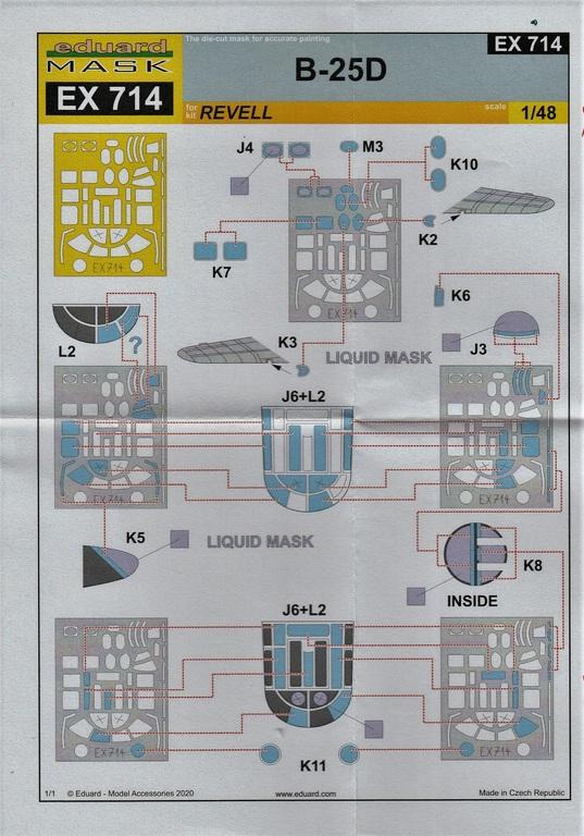 Eduard-FE-1117-und-1118-B-25-Accurate-REvell-10 Ätzteile und Masken für die B-25D (Revell/Accurate Miniatures) von Eduard in 1:48
