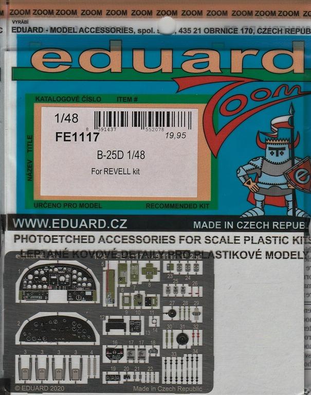 Eduard-FE-1117-und-1118-B-25-Accurate-REvell-2 Ätzteile und Masken für die B-25D (Revell/Accurate Miniatures) von Eduard in 1:48