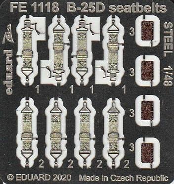 Eduard-FE-1117-und-1118-B-25-Accurate-REvell-7 Ätzteile und Masken für die B-25D (Revell/Accurate Miniatures) von Eduard in 1:48