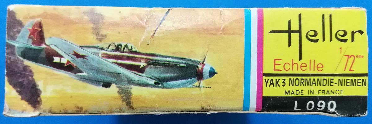 HELLER-L-090-Yak-3-Normandie-Niemen-3 Kit-Archäologie: Yak-3 Normandie-Niemen in 1:72 von HELLER # L 060