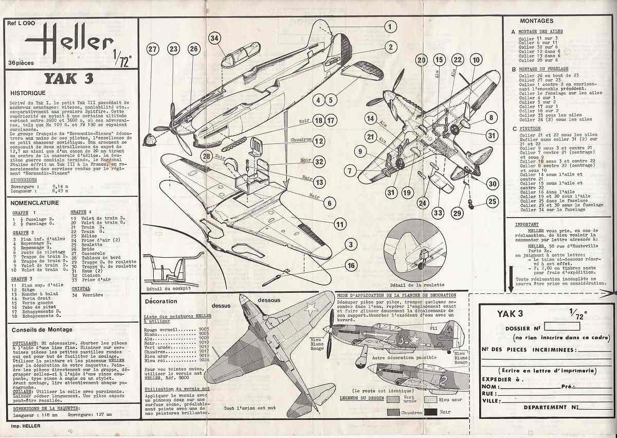 HELLER-L-090-Yak-3-Normandie-Niemen-32 Kit-Archäologie: Yak-3 Normandie-Niemen in 1:72 von HELLER # L 060