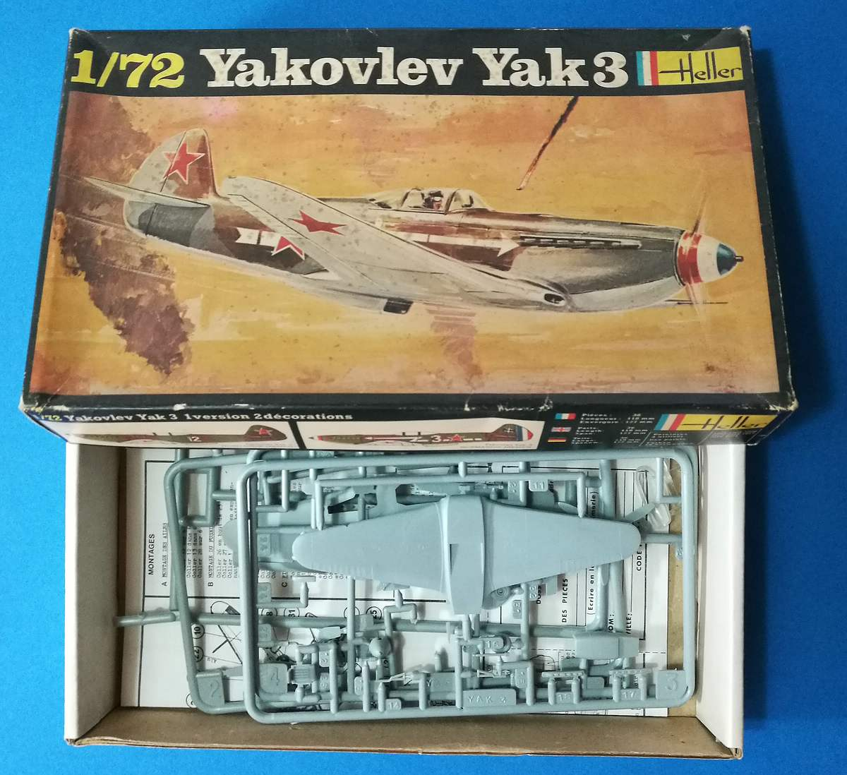 HELLER-L-090-Yak-3-Normandie-Niemen-5 Kit-Archäologie: Yak-3 Normandie-Niemen in 1:72 von HELLER # L 060
