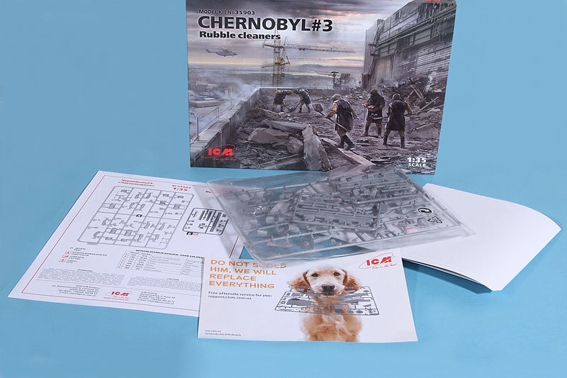 ICM-35903-CHERNOBYL-3-Rubble-Cleaners-2 Chernobyl Set 3: Rubble Cleaners in 1:35 von ICM #35903