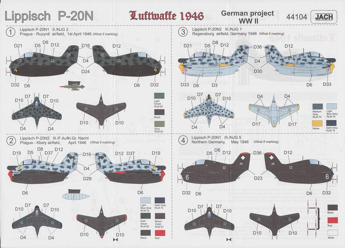 JACH-44104-und-44105-Lippisch-P.20-1zu144-4 Lippisch P.20 in 1:144 von JACH #44104 und 44105