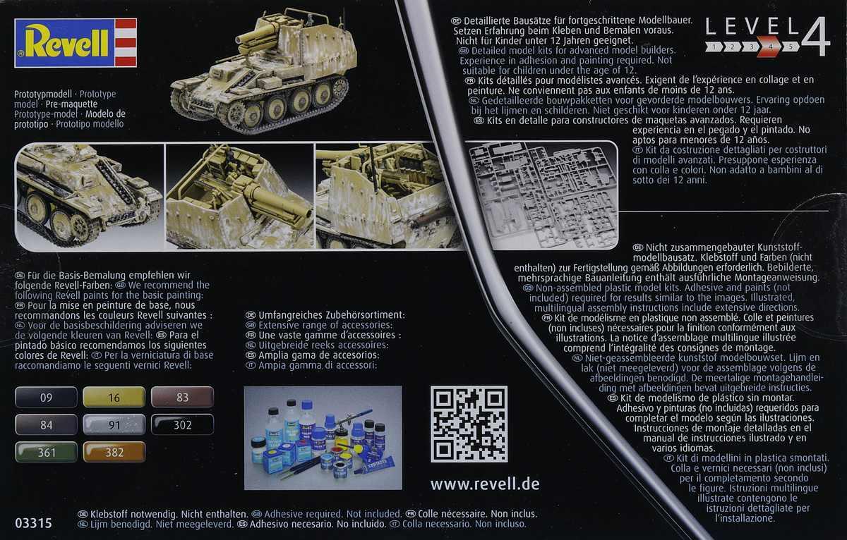 Revell-03315-Grille-Ausf.-M-2 Sturmpanzer Grille Ausf. M in 1:72 von Revell # 03315