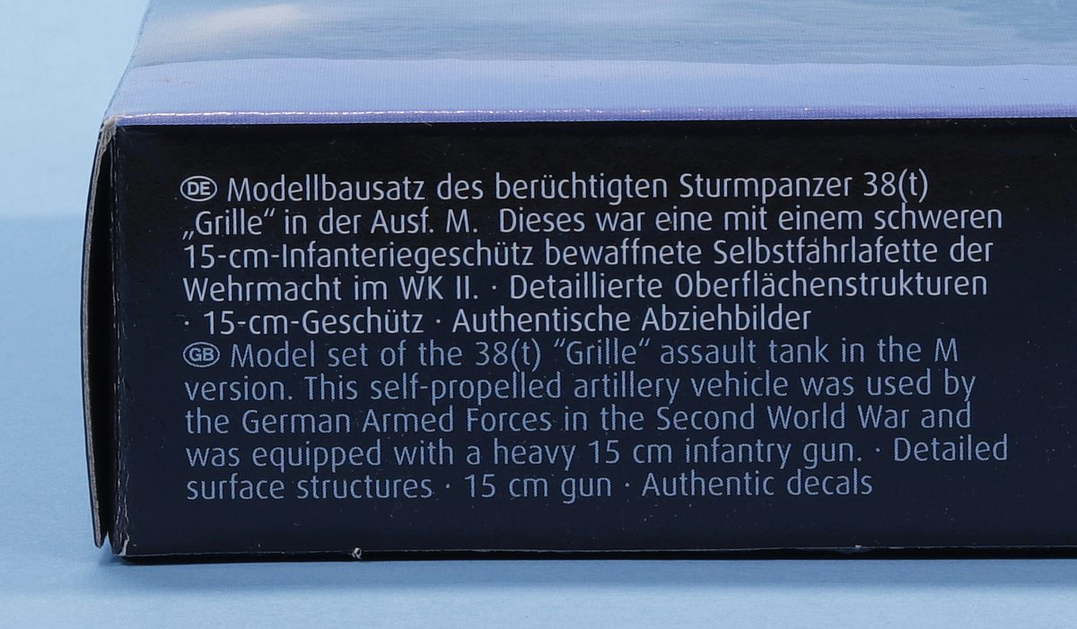 Revell-03315-Grille-Ausf.-M-3 Sturmpanzer Grille Ausf. M in 1:72 von Revell # 03315