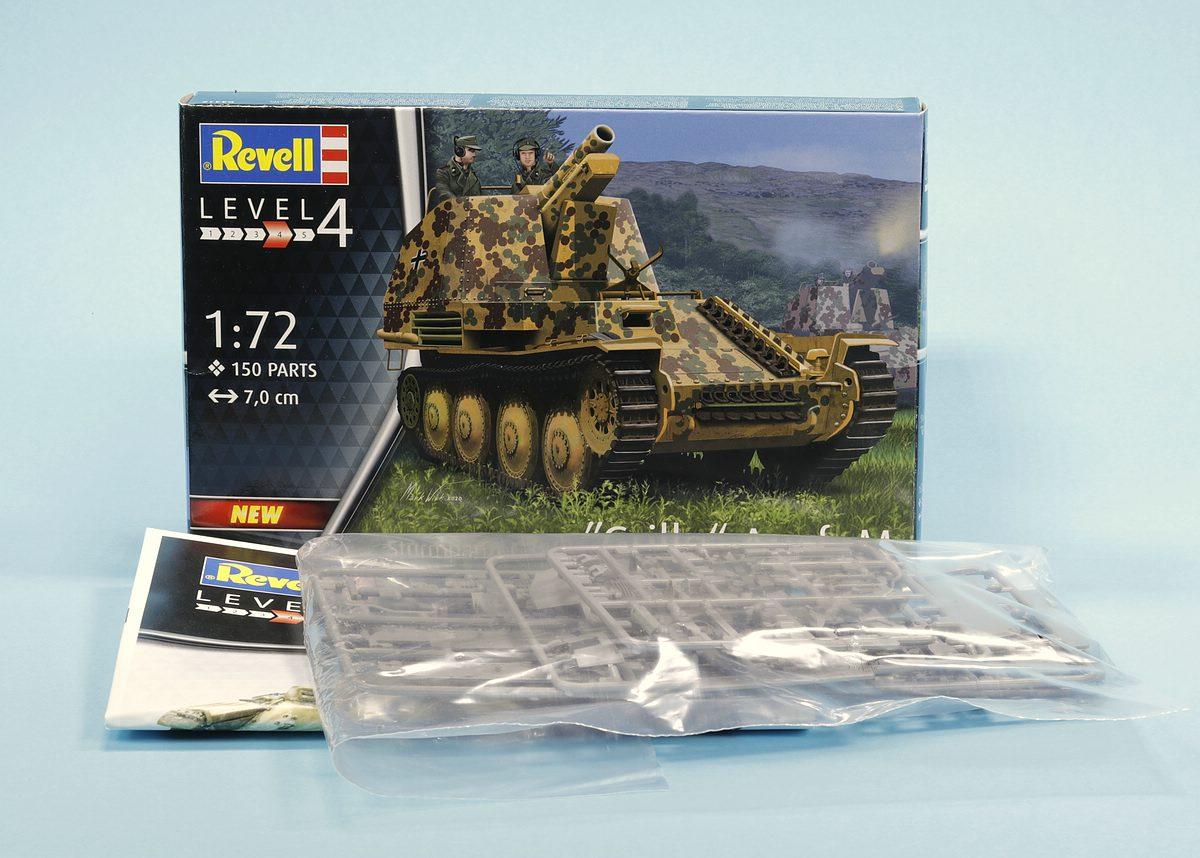 Revell-03315-Grille-Ausf.-M-6 Sturmpanzer Grille Ausf. M in 1:72 von Revell # 03315