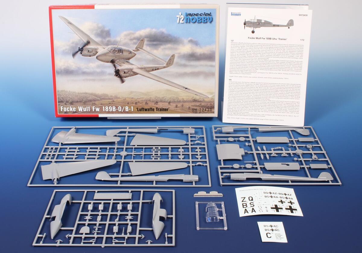 Special-Hobby-SH-72430-FW-189-B-0-Luftwaffe-Trainer-2 FW 189 B-0 / B-1 Luftwaffe Trainer in 1:72 von Special Hobby # SH 72430